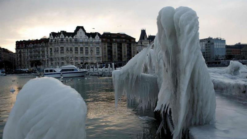 Frio congela Genebra