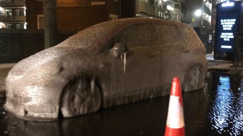 Carro congelado em Londres