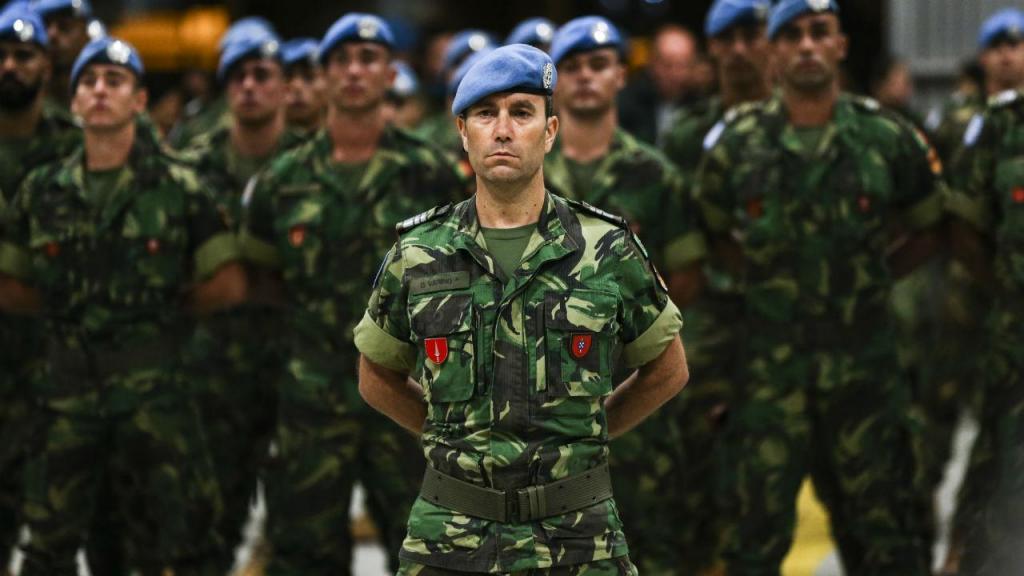 Chegada de militares portugueses