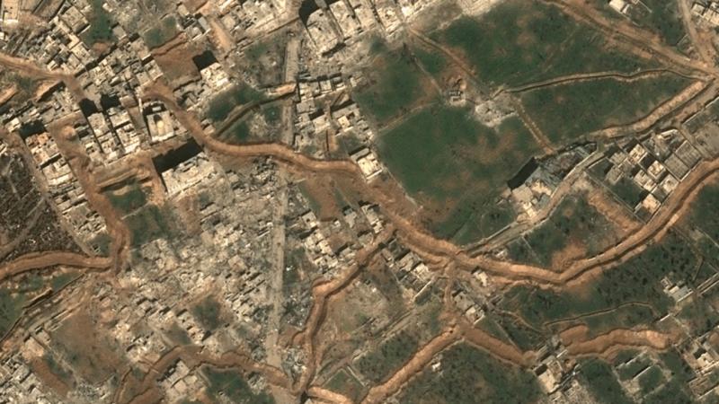 Imagens de satélite mostram grau de destruição em Ghouta