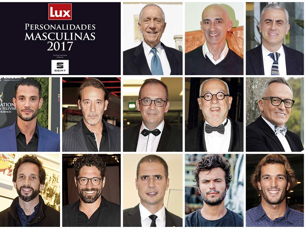 Vencedores Personalidades Masculinas Lux 2017 Foto: Lux