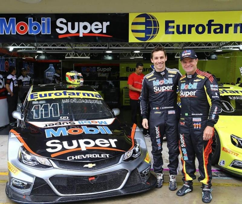 Filipe Albuquerque e Rubens Barrichello