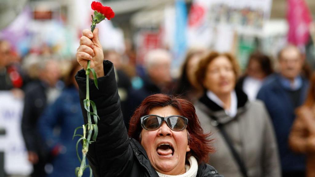 Manifestação de mulheres em Lisboa