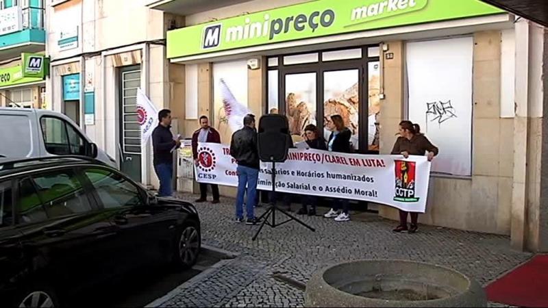 Manifestação de trabalhadores do Minipreço