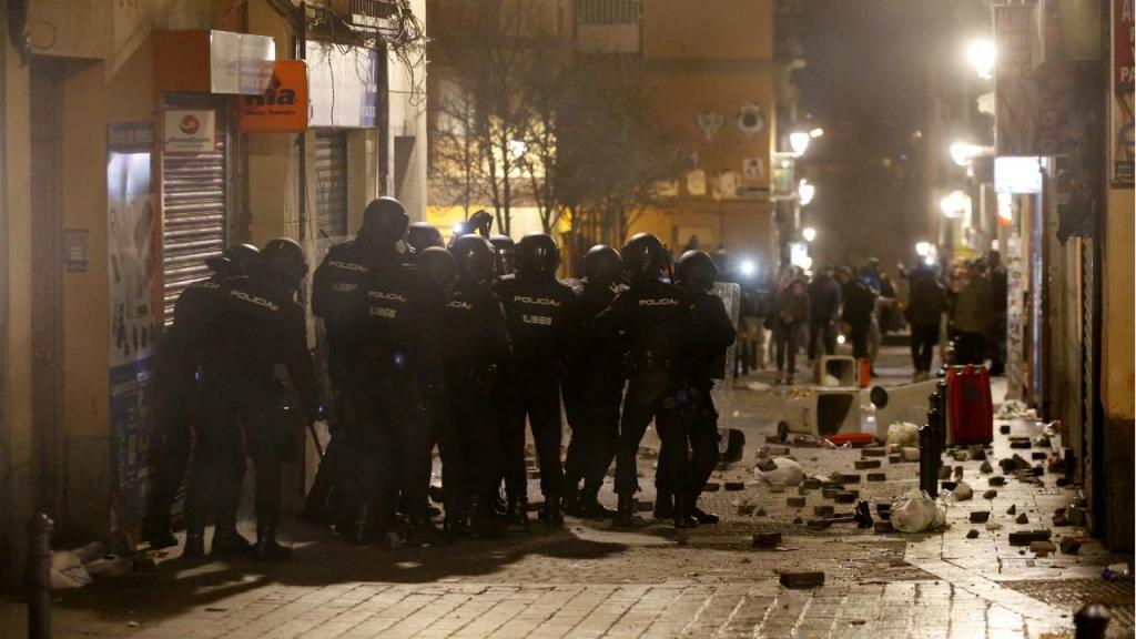 Madrid - tumultos nas ruas