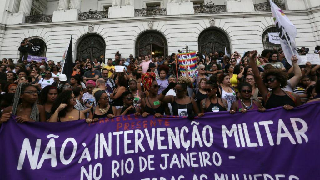 A despedida de Marielle Franco no Rio de Janeiro