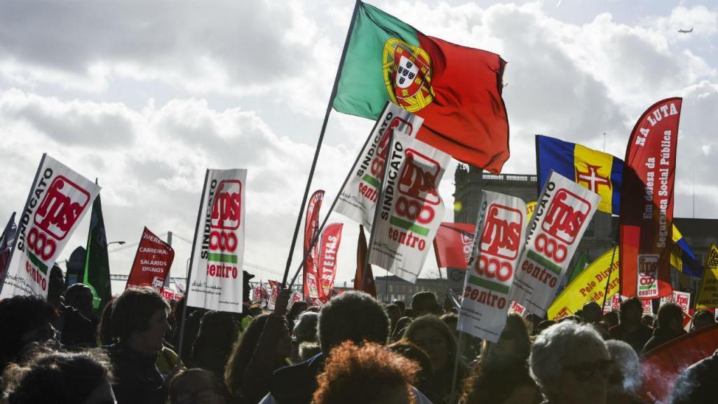 Manifestação da Frente Comum em Lisboa