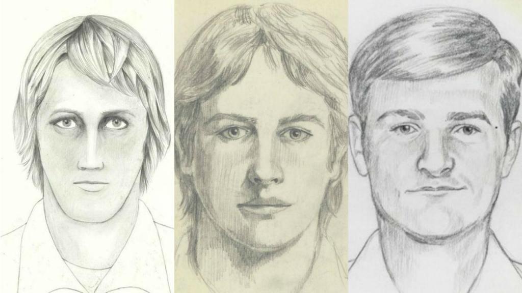 Retratos falados do criminoso responsável por 12 homicídios e 45 violações, entre 1976 e 1986