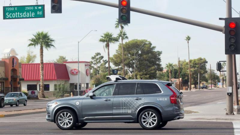 Carro sem condutor da Uber