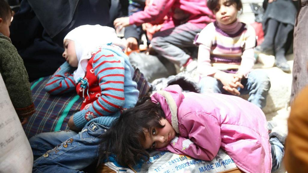 Civis fogem de Ghouta