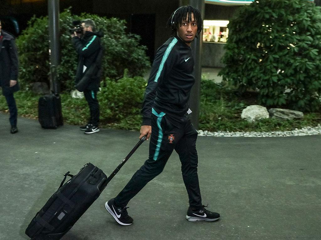 Chegada da seleção portuguesa à Suiça