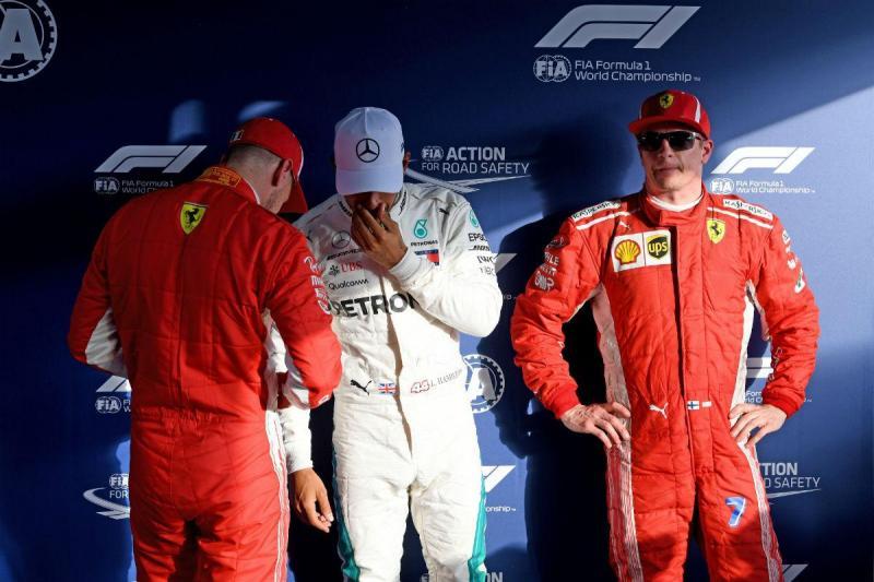 Vettel, Hamilton e Raikkonen (Lusa)