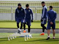 Messi treina no centro de treinos do Real Madrid