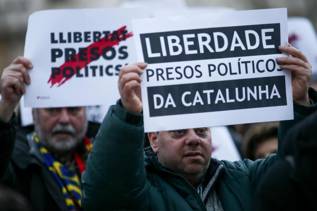Manifestação em Lisboa pela Catalunha