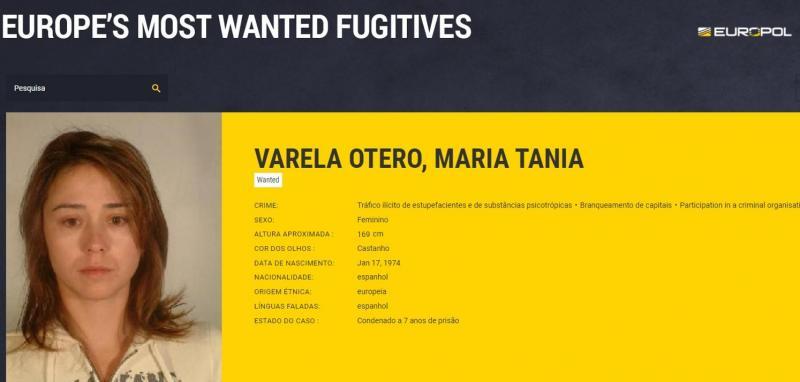 Tania Varela - procurada pela Europol