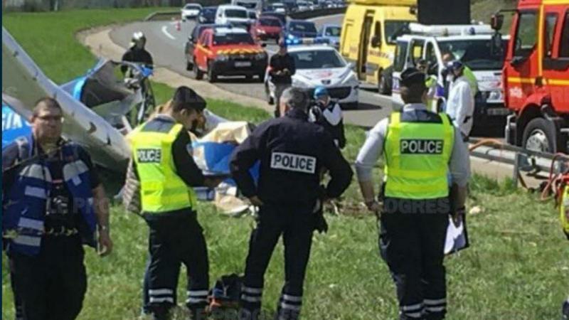 Bimotor cai em França