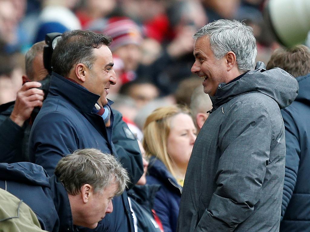Mourinho e Carlos Carvalhal