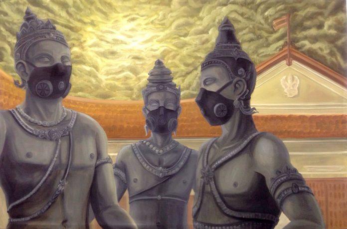 Pintura publicada na revista Citylife Chiang Mai