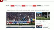 Imprensa espanhola rende-se a Cristiano Ronaldo