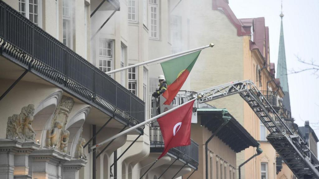 Incêndio na embaixada portuguesa de Estocolmo