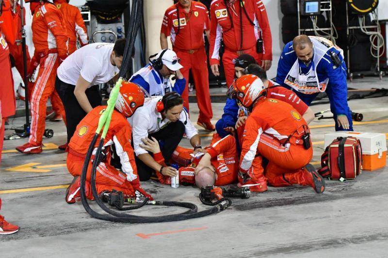 Mecanico da Ferrari magoado no GP do Bahrain (Lusa)