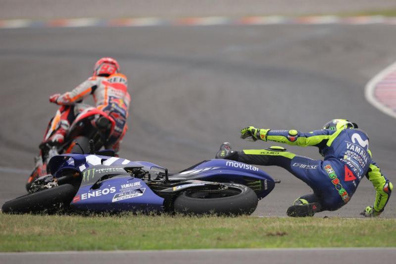 Valentino Rossi (e Marc Márquez) no GP da Argentina (Lusa)