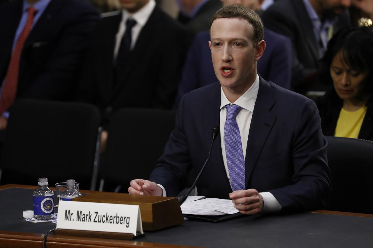 Mark Zuckerberg depõe no senado norte-americano