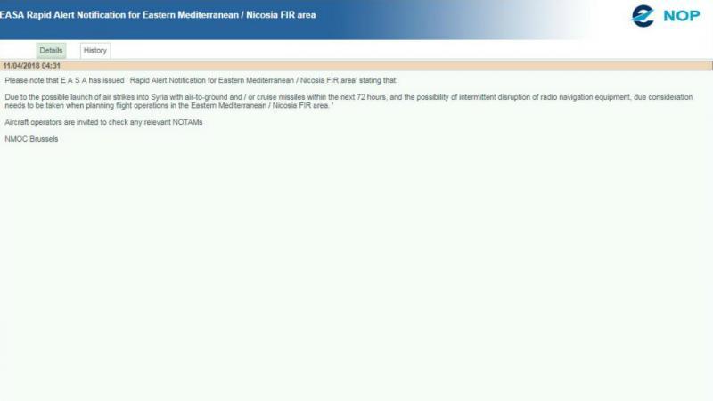 Notificação da Eurocontrol