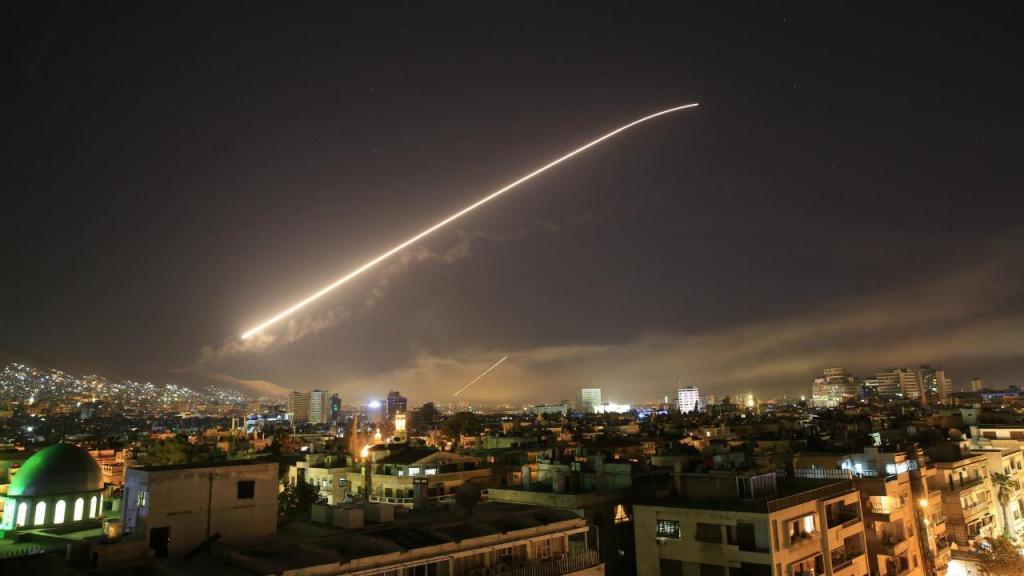 As imagens do ataque na Síria