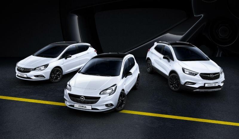 Opel Astra Corsa e Mokka X Black Editiion
