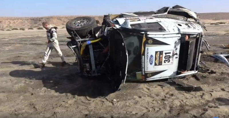 Acidente no Marroco Desert Challenge