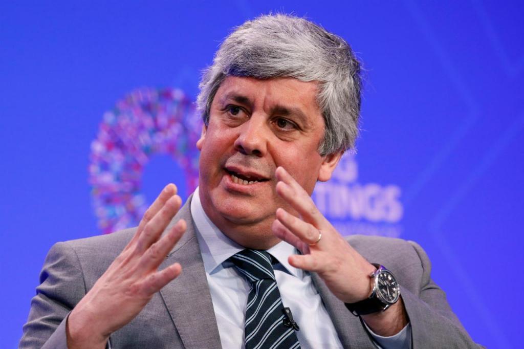 Mário Centeno na cimeira da primavera do FMI
