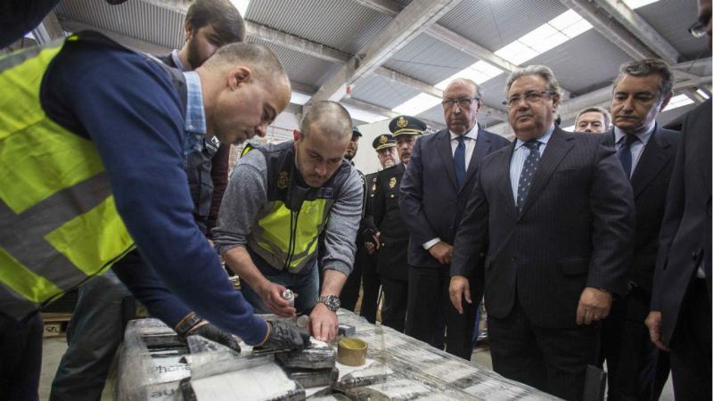 Ao todo, foram encontrados 8.740 quilos de cocaína