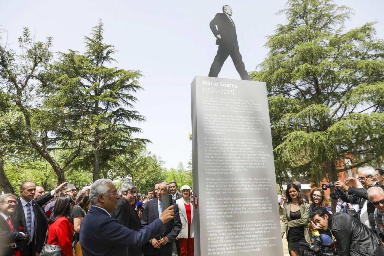 Inauguração do Jardim Mário Soares