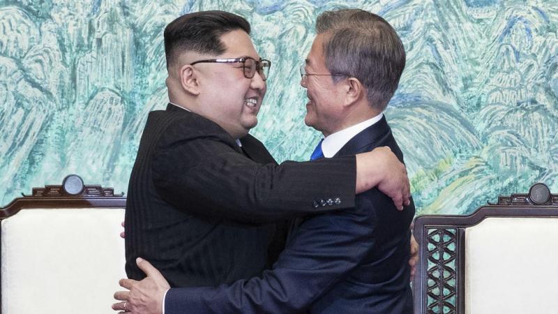 Cimeira entre os líderes das Coreias na Zona Desmilitarizada perto de Panmunjom, na Coreia do Sul