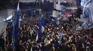 A chegada do FC Porto ao aeroporto vista pela câmaras de tv