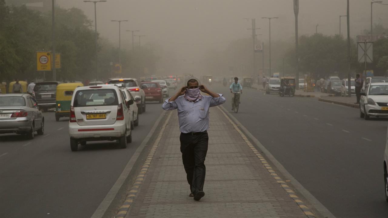 Tempestade de areia na Índia