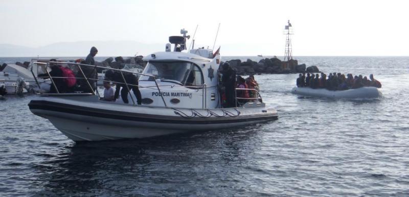 Polícia Marítima - resgate de refugiados