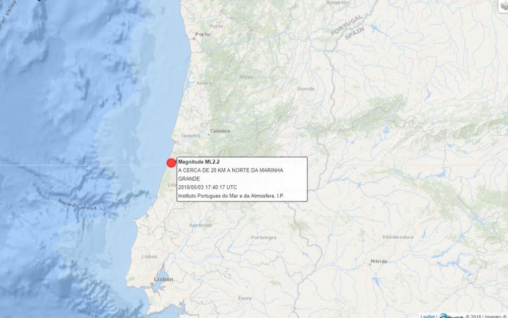 IPMA - Sismo Marinha Grande