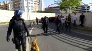 Caixa de segurança dos adeptos do Benfica a caminho de Alvalde