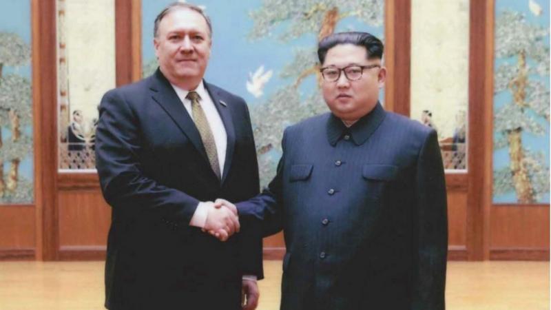 Mike Pompeo e Kim Jong-Un