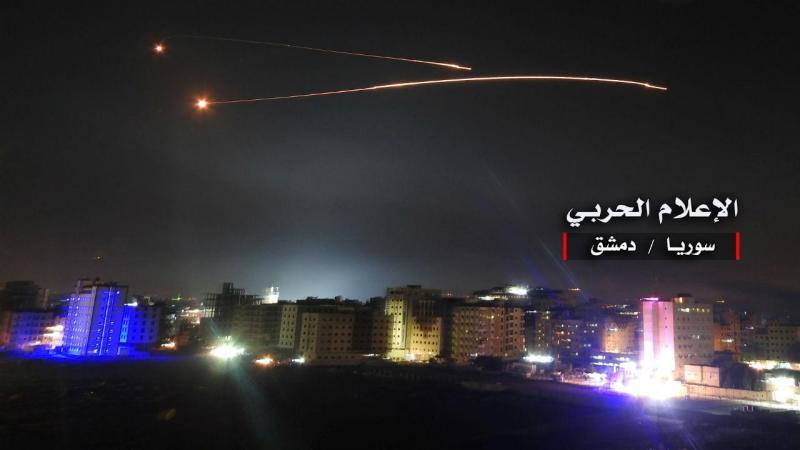 Mísseis lançados por Israel contra bases militares sírias (arquivo)