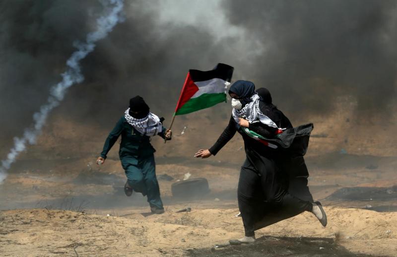 Faixa de Gaza - protestos