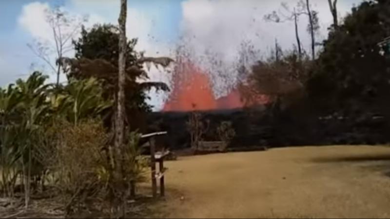 Habitante foi surpreendido com erupção vulcânica no quintal