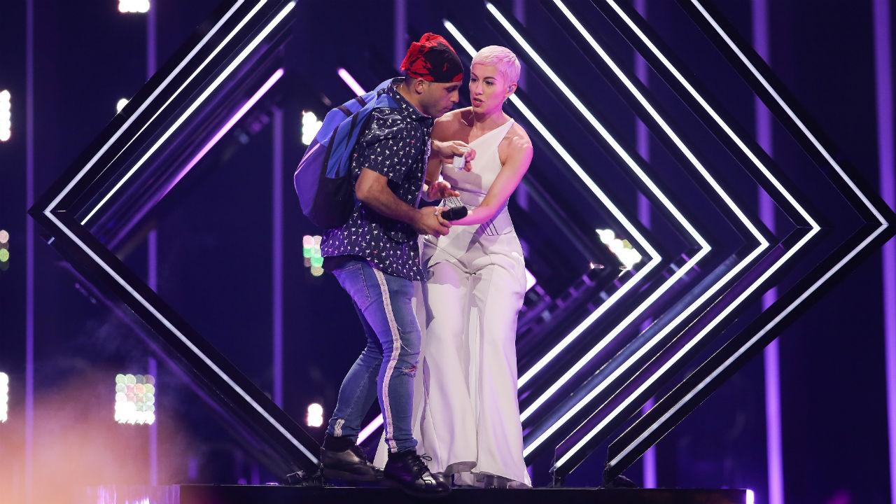 Invasão de palco na Eurovisão