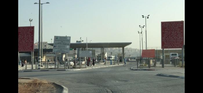 Posto de controlo de Qalandia, que dá acesso à Cisjordânia