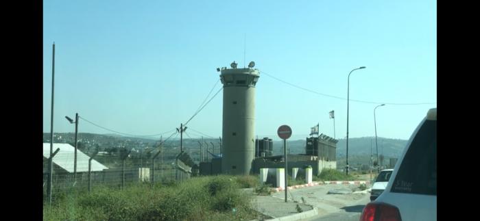 Fortificação israelita perto de Nablus