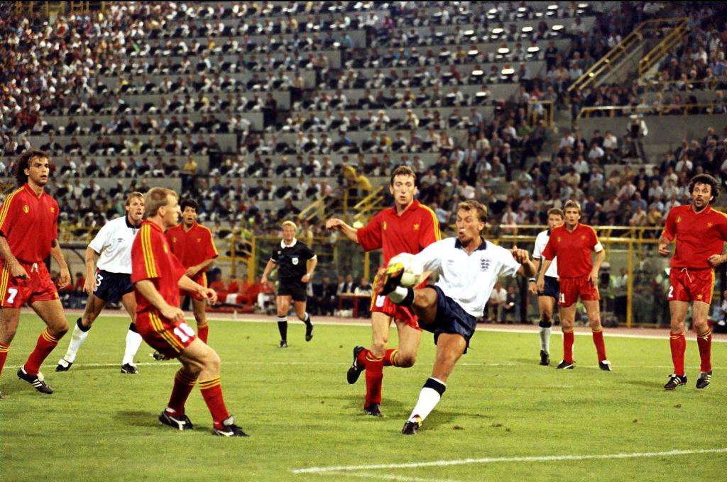 Inglaterra-Bélgica 1990