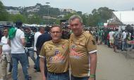 Jorge Reis, presidente do Caldas, à direita na imagem (foto Nuno Travassos)