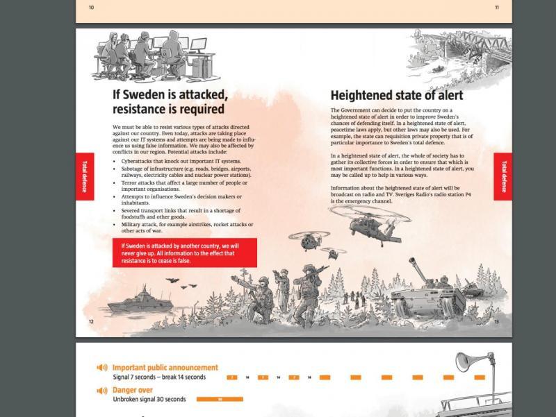 Suécia - brochura com instruções para cidadãos em caso de guerra